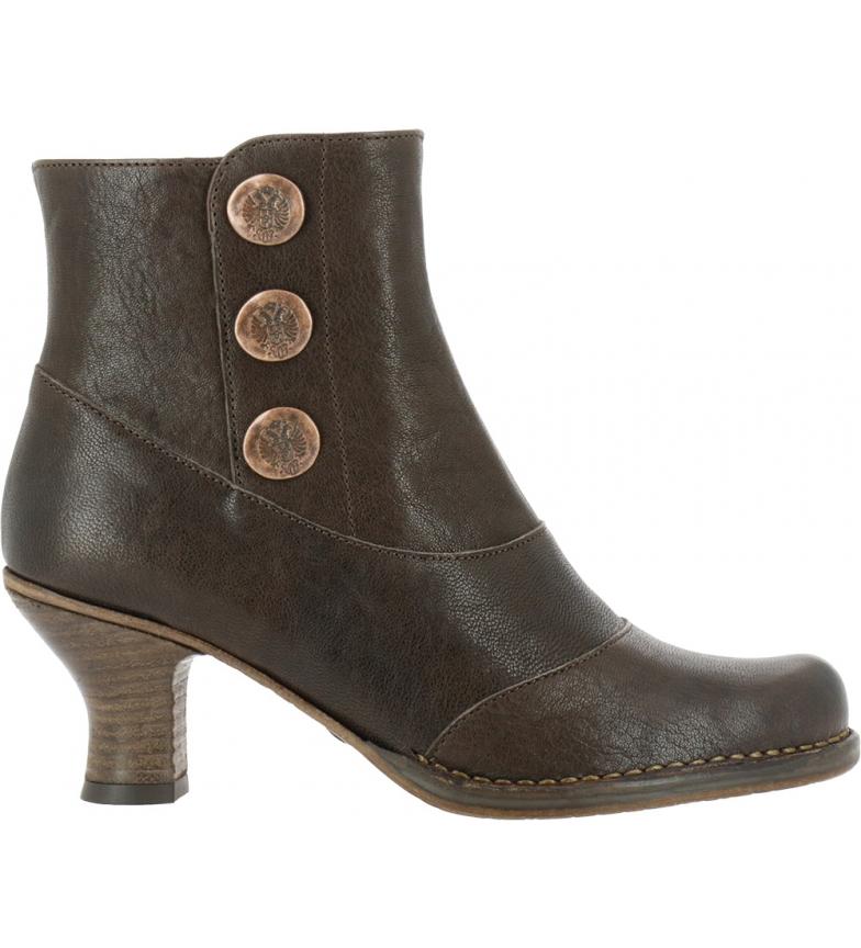 Comprar NEOSENS Stivaletti in pelle marrone rococò S661 - Altezza del tacco: 6,5 cm