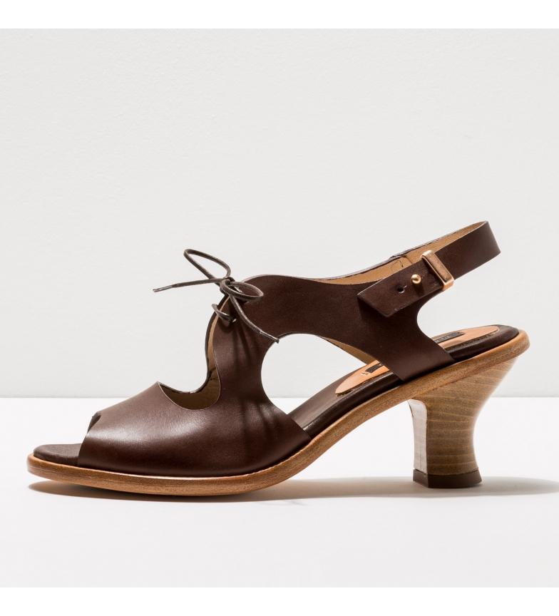 Comprar NEOSENS Sandalias de piel S980 Negreda marrón -Altura del tacón: 6cm-