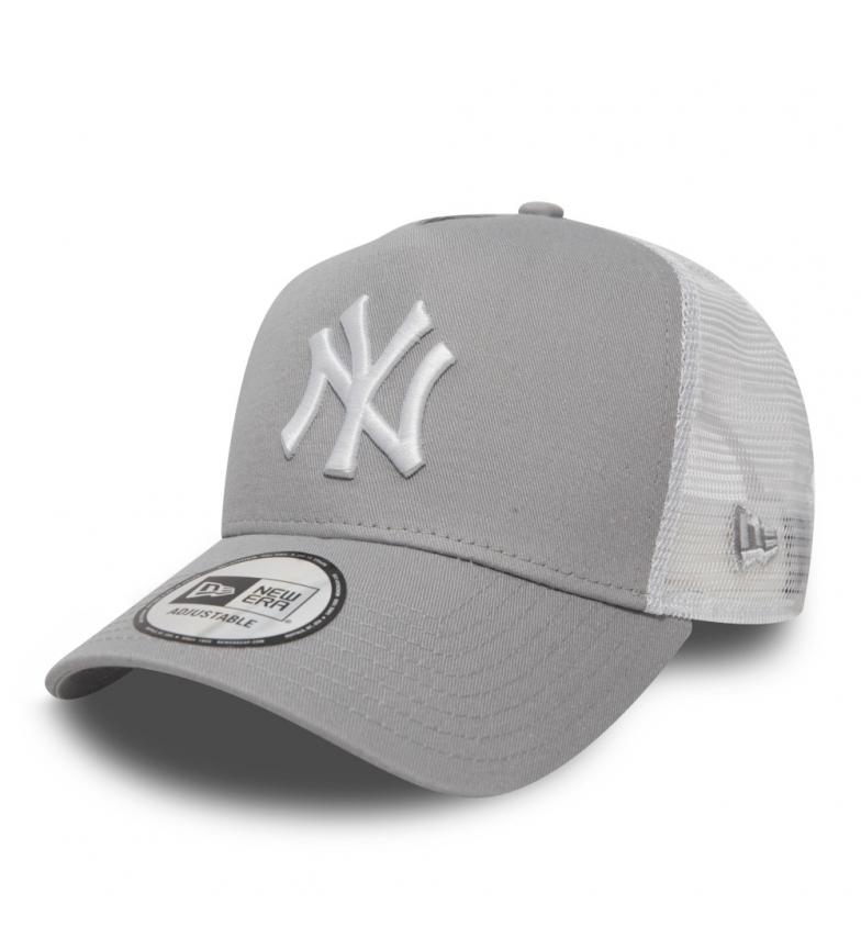 New Era Gorra Trucker New York Yankees Clean A-Frame gris