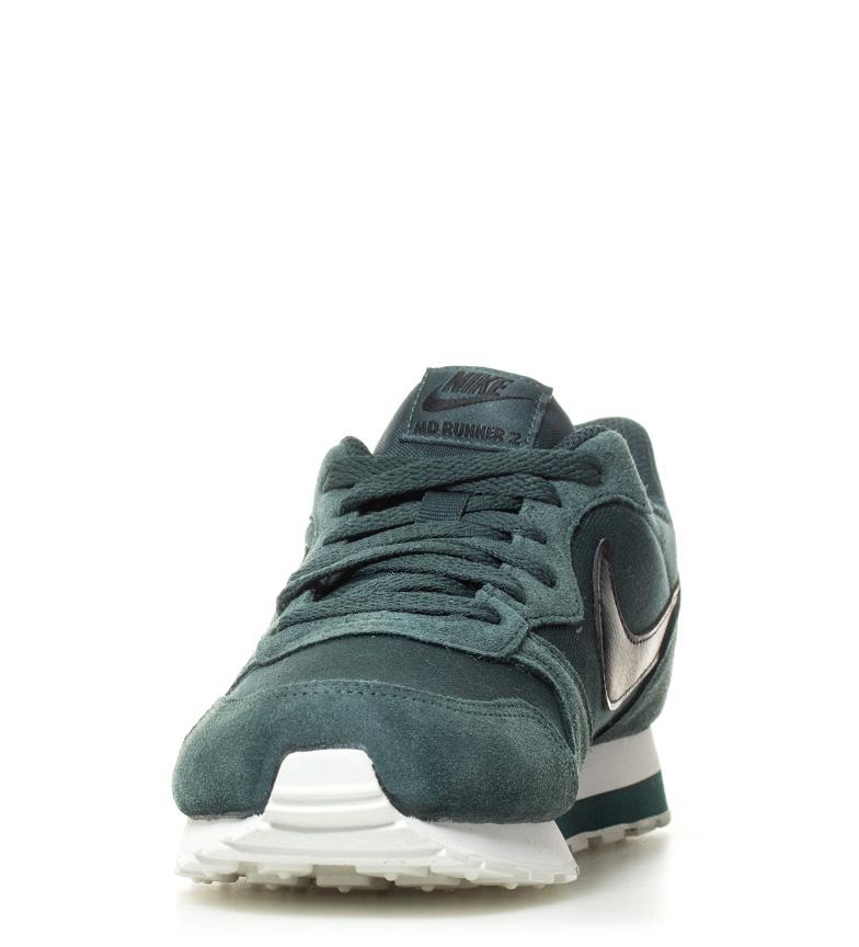 de MD verde negro Runner piel Nike 2 Zapatillas GS 7xSU1q6