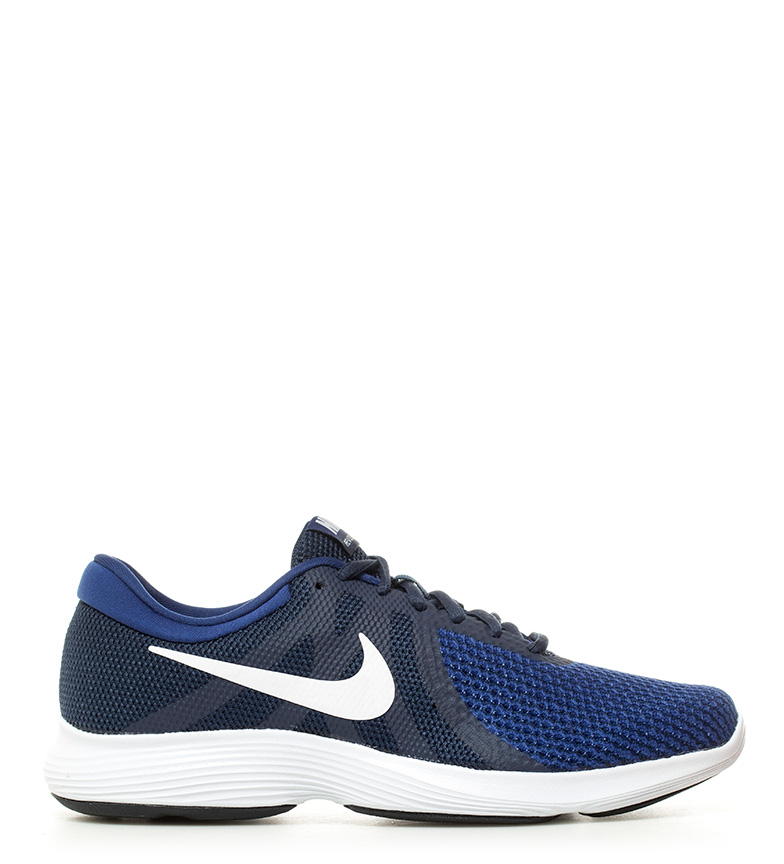 Nike Zapatillas running Revolution 4 marino, blanco