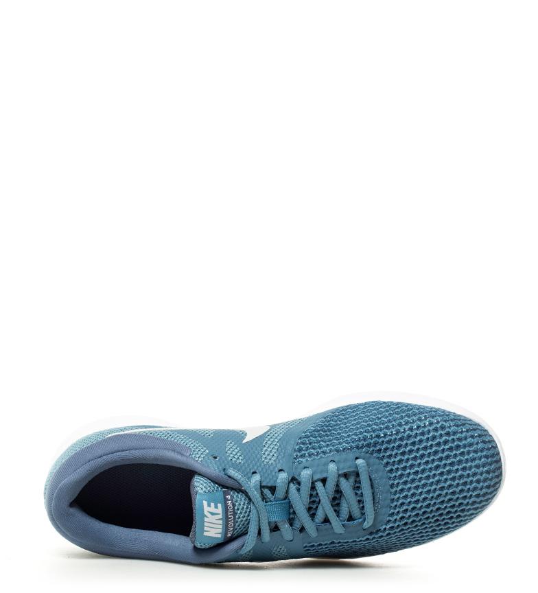 Nike Zapatillas running Revolution 4 azul, blanco