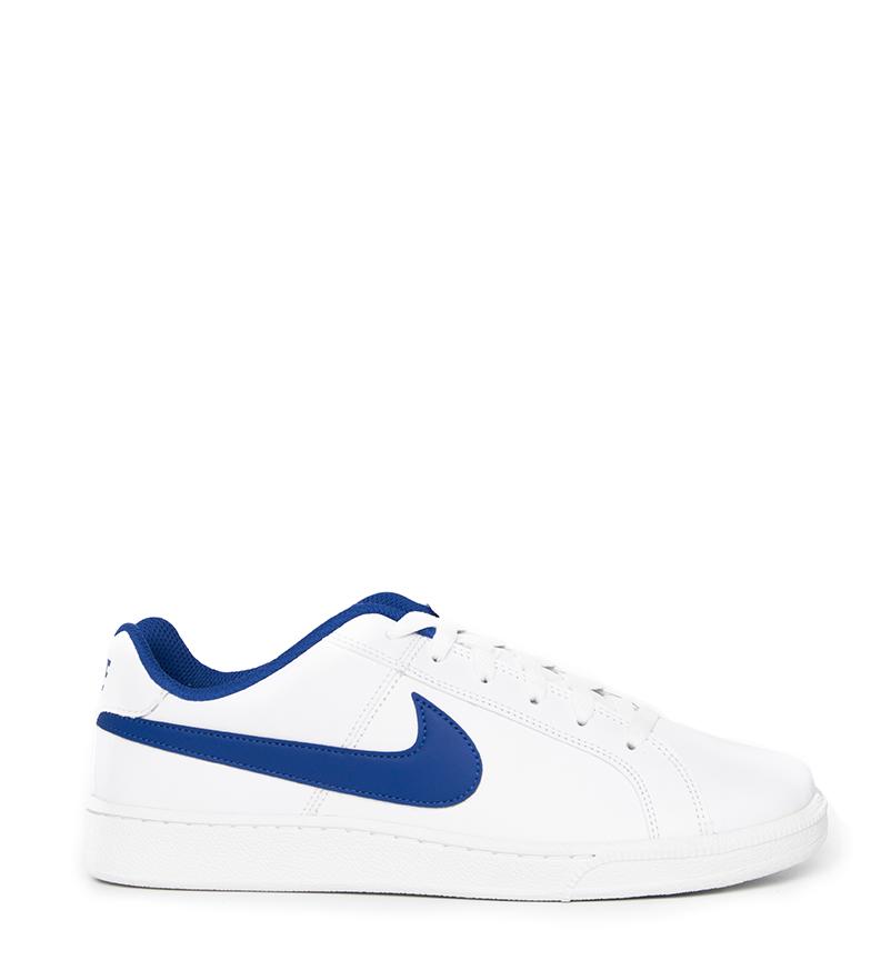 Nike-Baskets-Court-Royale-Homme-Blanc-Tissu-Synthetique-Cuir-Plat-Lacets miniature 24