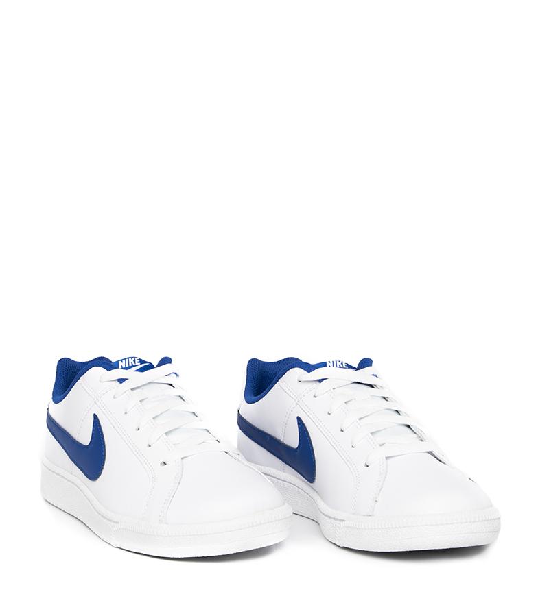 Nike-Baskets-Court-Royale-Homme-Blanc-Tissu-Synthetique-Cuir-Plat-Lacets miniature 25