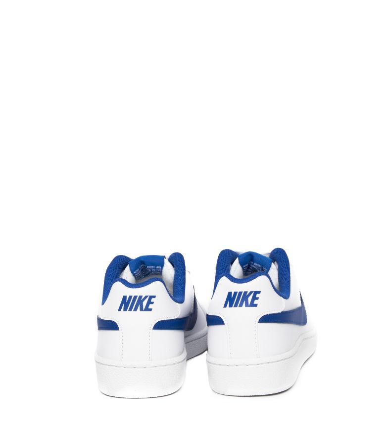 Nike-Baskets-Court-Royale-Homme-Blanc-Tissu-Synthetique-Cuir-Plat-Lacets miniature 26