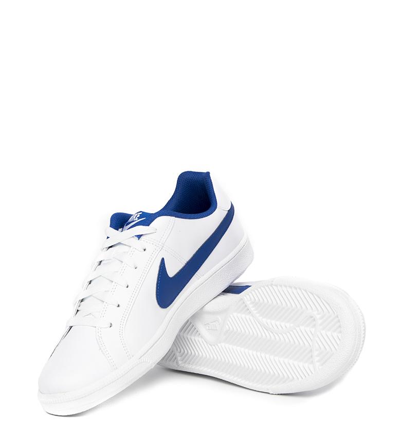 Nike-Baskets-Court-Royale-Homme-Blanc-Tissu-Synthetique-Cuir-Plat-Lacets miniature 27