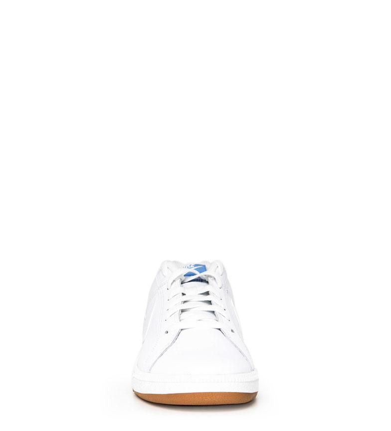 Nike-Baskets-Court-Royale-Homme-Blanc-Tissu-Synthetique-Cuir-Plat-Lacets miniature 5