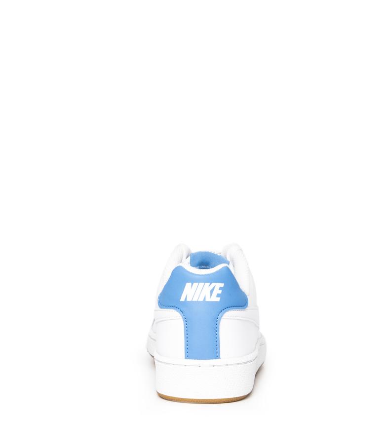 Nike-Baskets-Court-Royale-Homme-Blanc-Tissu-Synthetique-Cuir-Plat-Lacets miniature 6