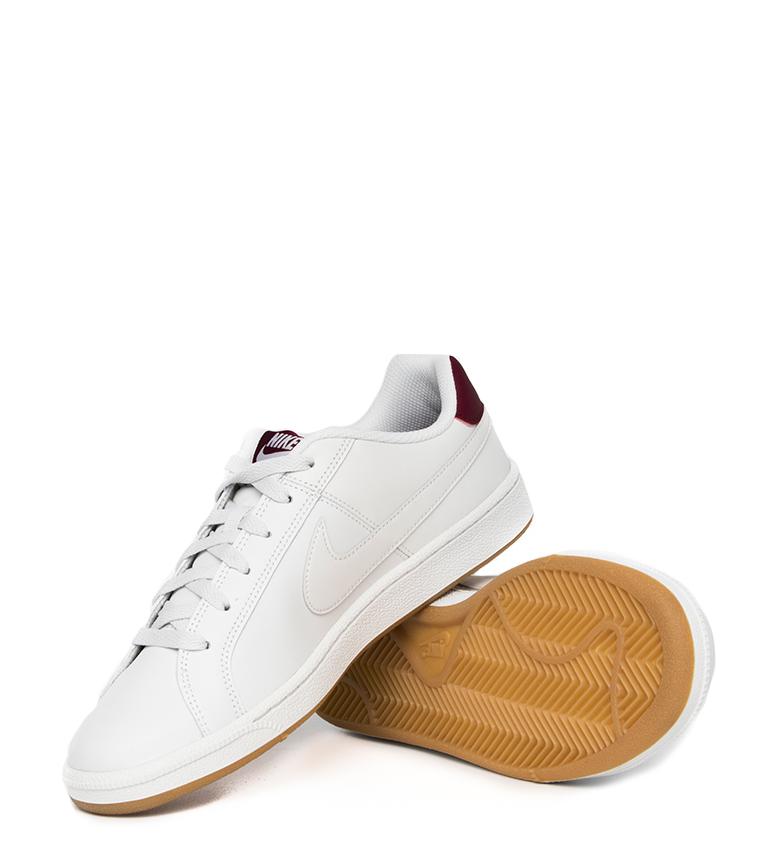 Nike-Baskets-Court-Royale-Homme-Blanc-Tissu-Synthetique-Cuir-Plat-Lacets miniature 22