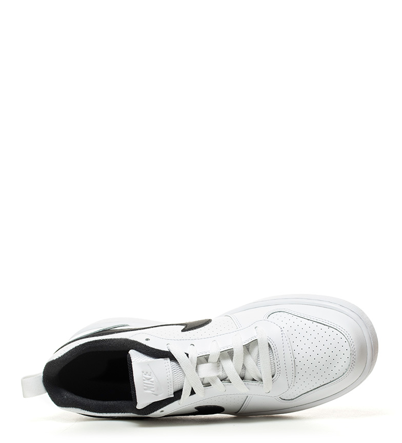 piel Zapatillas Borough blanco blanco Nike negro Low de Nike Low piel de Zapatillas Court Court Borough CqCwaBX