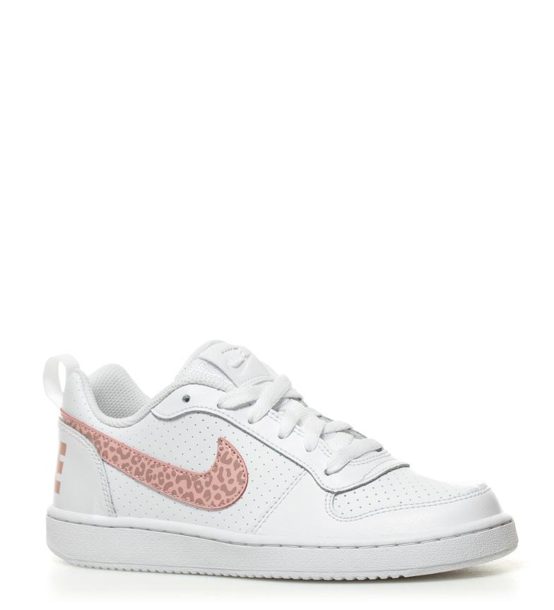 piel de Low Borough print rosa Zapatillas blanco Court Nike animal 5EAnUwq