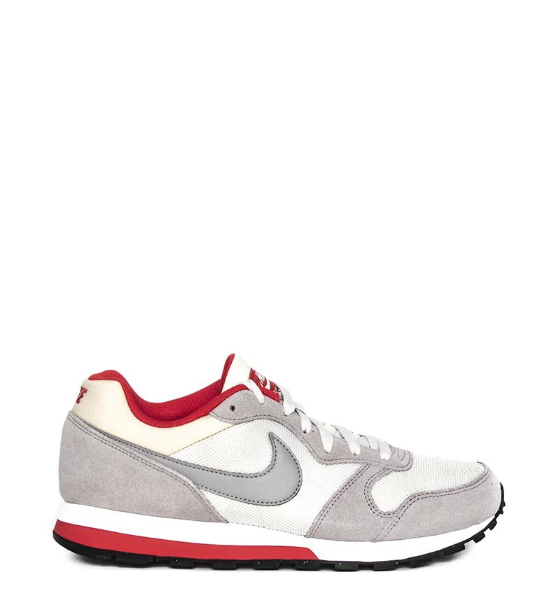 Nike-Sneakers-MD-Runner-2-Homme-Bleu-Vert-Bronze-Noir-Gris-Multicolore-Tissu miniature 32
