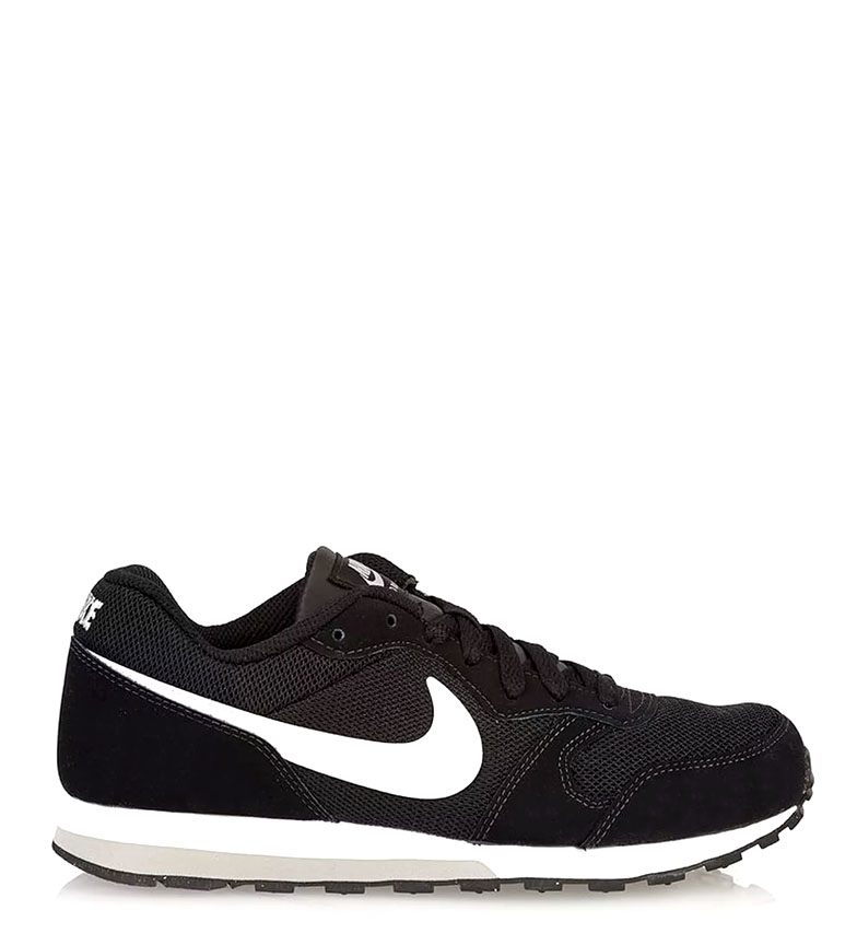 Nike-Leather-Sneakers-MD-Runner-2-GS-Femme-Cuir-Synthetique-Tissu-Bleu-Noir miniature 3