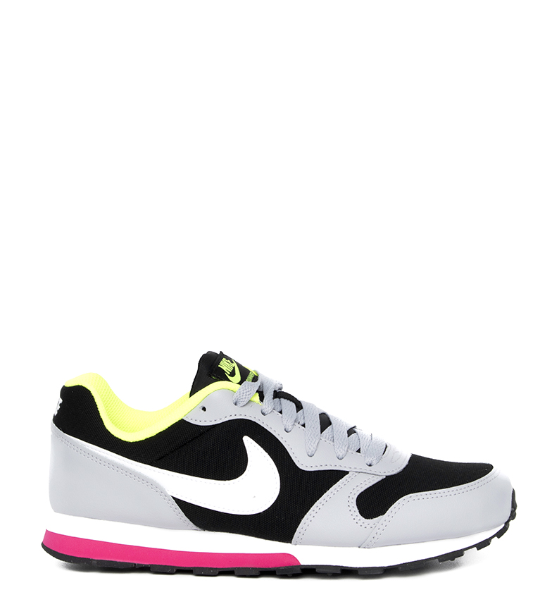 Nike-Leather-Sneakers-MD-Runner-2-GS-Femme-Cuir-Synthetique-Tissu-Bleu-Noir miniature 22