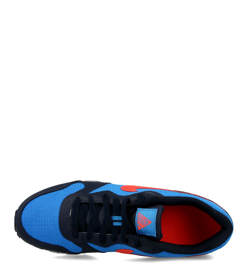 Nike-Leather-Sneakers-MD-Runner-2-GS-Femme-Cuir-Synthetique-Tissu-Bleu-Noir miniature 11