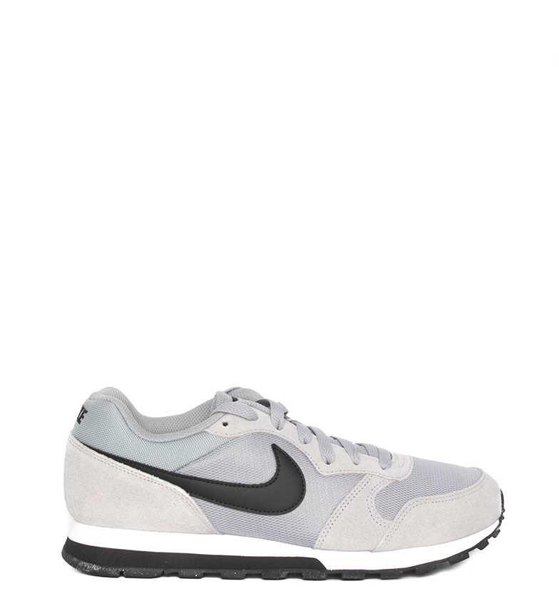Nike-Sneakers-MD-Runner-2-Homme-Bleu-Vert-Bronze-Noir-Gris-Multicolore-Tissu miniature 37