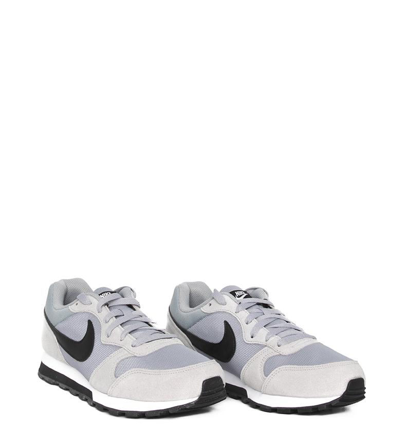 Nike-Sneakers-MD-Runner-2-Homme-Bleu-Vert-Bronze-Noir-Gris-Multicolore-Tissu miniature 38