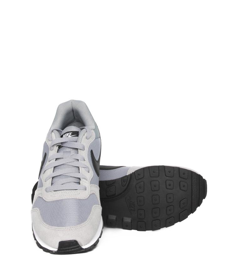 Nike-Sneakers-MD-Runner-2-Homme-Bleu-Vert-Bronze-Noir-Gris-Multicolore-Tissu miniature 40