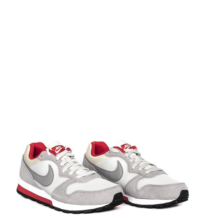 Nike-Sneakers-MD-Runner-2-Homme-Bleu-Vert-Bronze-Noir-Gris-Multicolore-Tissu miniature 33