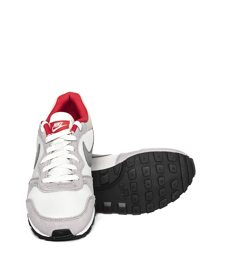 Nike-Sneakers-MD-Runner-2-Homme-Bleu-Vert-Bronze-Noir-Gris-Multicolore-Tissu miniature 35