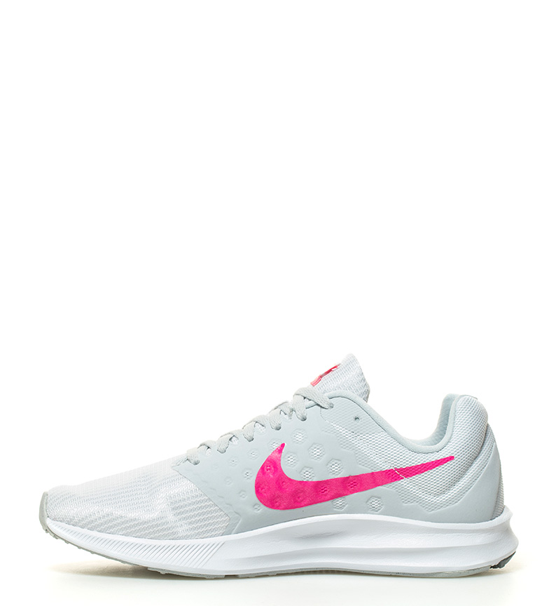 44a25d8fe3b Nike - Zapatillas running Downshifter 7 Mujer chica Negro Gris Tela ...