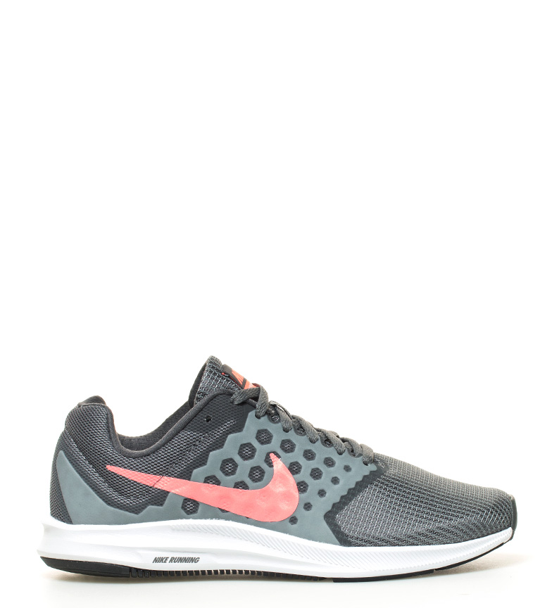 Zapatillas gris running Nike Wide 7 Downshifter RP6P1Fq