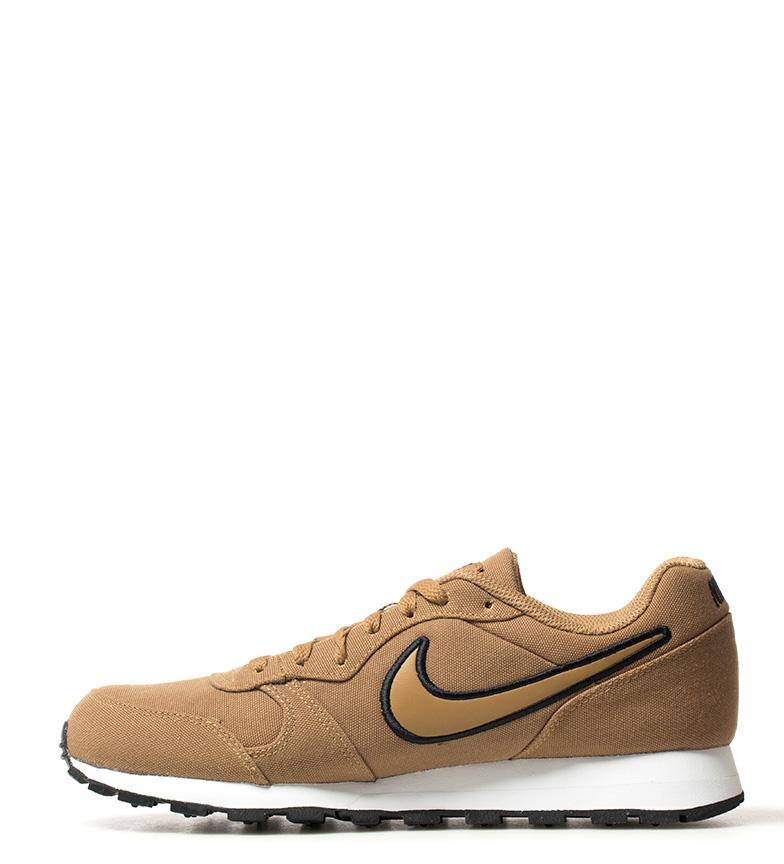 Nike-Sneakers-MD-Runner-2-Homme-Bleu-Vert-Bronze-Noir-Gris-Multicolore-Tissu miniature 23