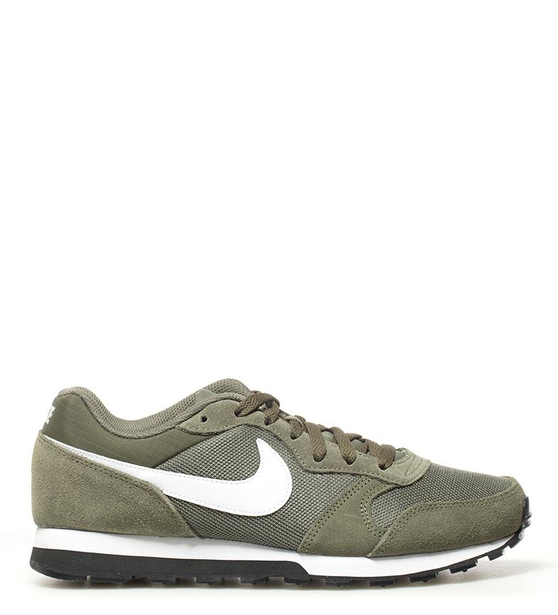 Nike-Sneakers-MD-Runner-2-Homme-Bleu-Vert-Bronze-Noir-Gris-Multicolore-Tissu miniature 11