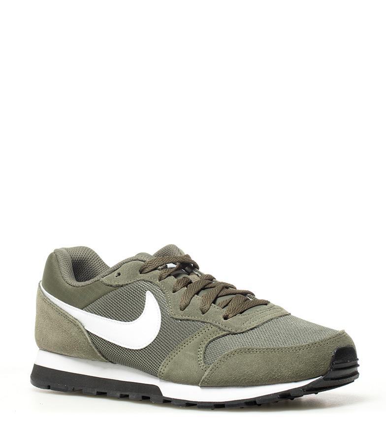 Nike-Sneakers-MD-Runner-2-Homme-Bleu-Vert-Bronze-Noir-Gris-Multicolore-Tissu miniature 12