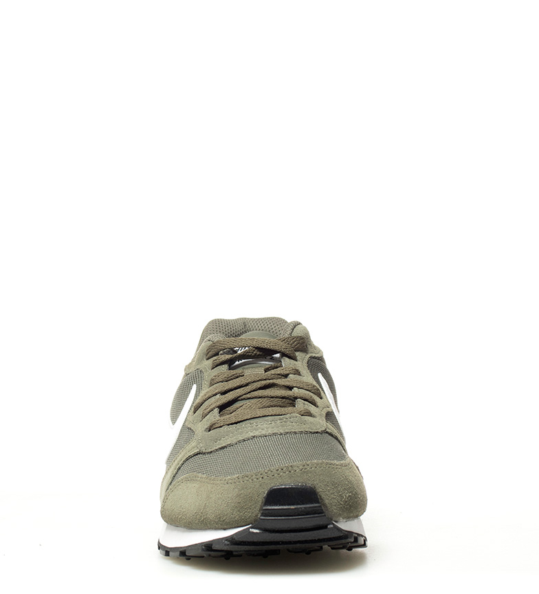 Nike-Sneakers-MD-Runner-2-Homme-Bleu-Vert-Bronze-Noir-Gris-Multicolore-Tissu miniature 13