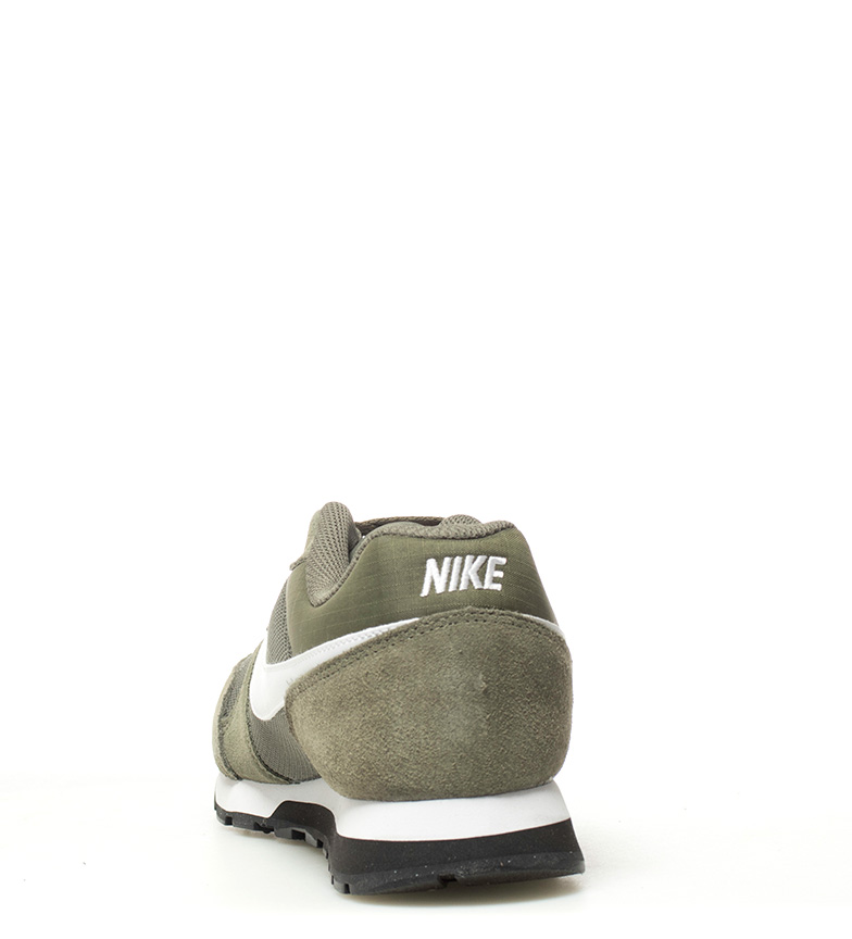 Nike-Sneakers-MD-Runner-2-Homme-Bleu-Vert-Bronze-Noir-Gris-Multicolore-Tissu miniature 15