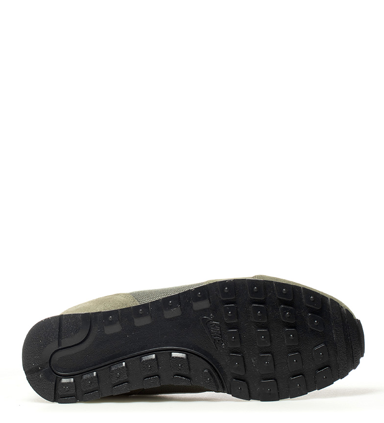 Nike-Sneakers-MD-Runner-2-Homme-Bleu-Vert-Bronze-Noir-Gris-Multicolore-Tissu miniature 16