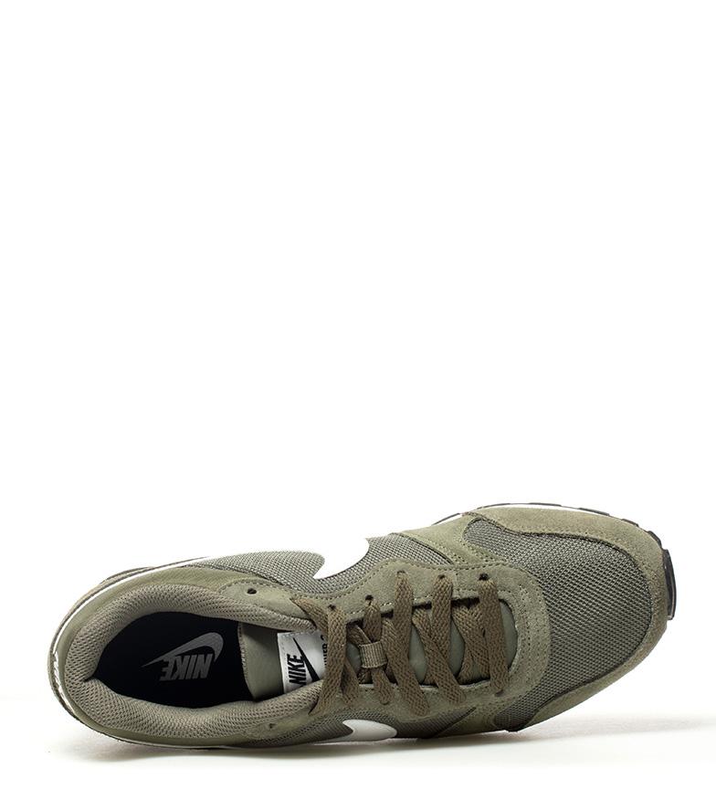 Nike-Sneakers-MD-Runner-2-Homme-Bleu-Vert-Bronze-Noir-Gris-Multicolore-Tissu miniature 17
