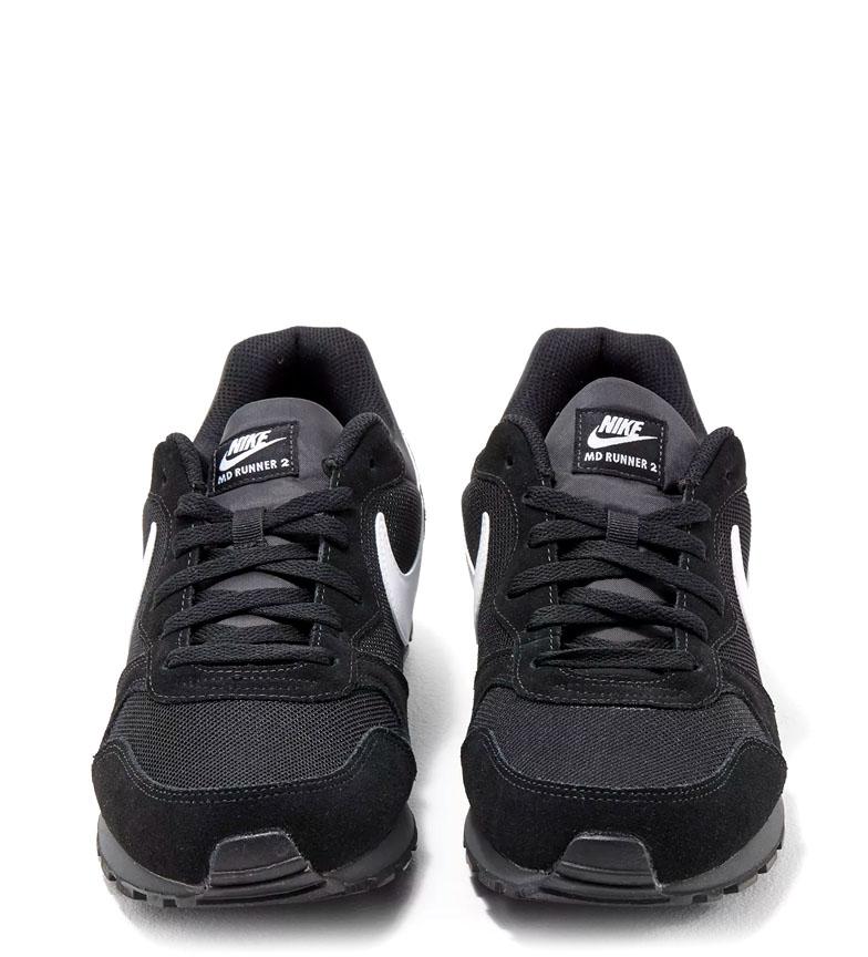 Nike-Sneakers-MD-Runner-2-Homme-Bleu-Vert-Bronze-Noir-Gris-Multicolore-Tissu miniature 28