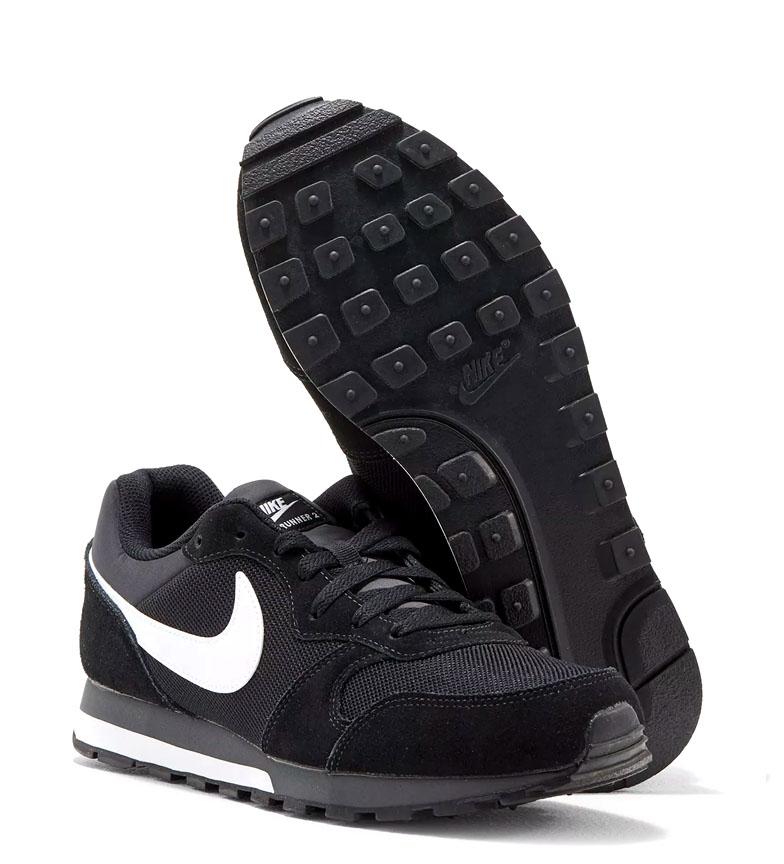 Nike-Sneakers-MD-Runner-2-Homme-Bleu-Vert-Bronze-Noir-Gris-Multicolore-Tissu miniature 30