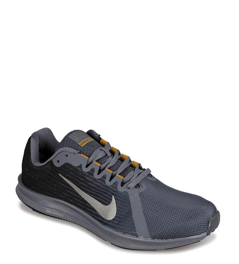 Nike-Zapatillas-running-Downshifter-8-Hombre-chico-Azul-Gris-Negro-Verde-Tela miniatura 4