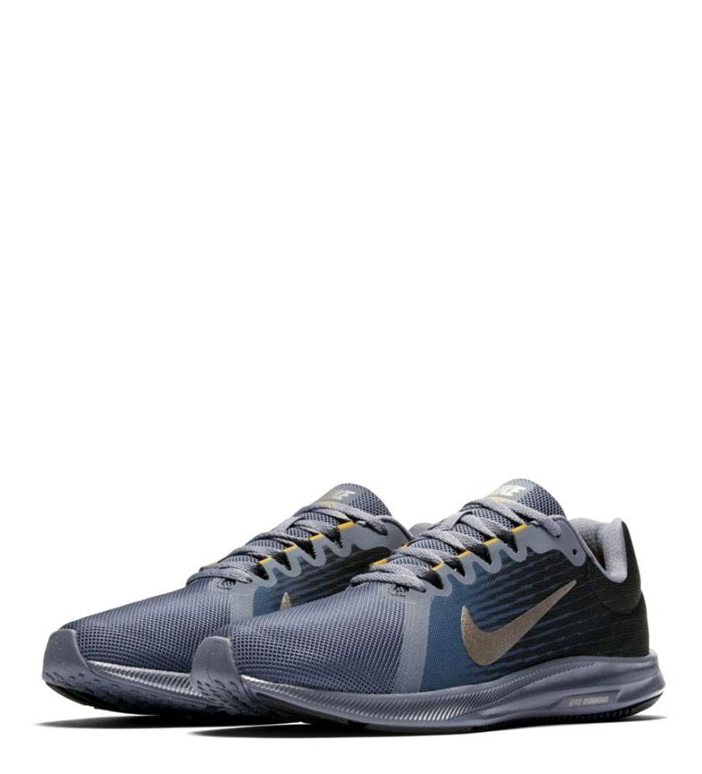 Nike-Zapatillas-running-Downshifter-8-Hombre-chico-Azul-Gris-Negro-Verde-Tela miniatura 8