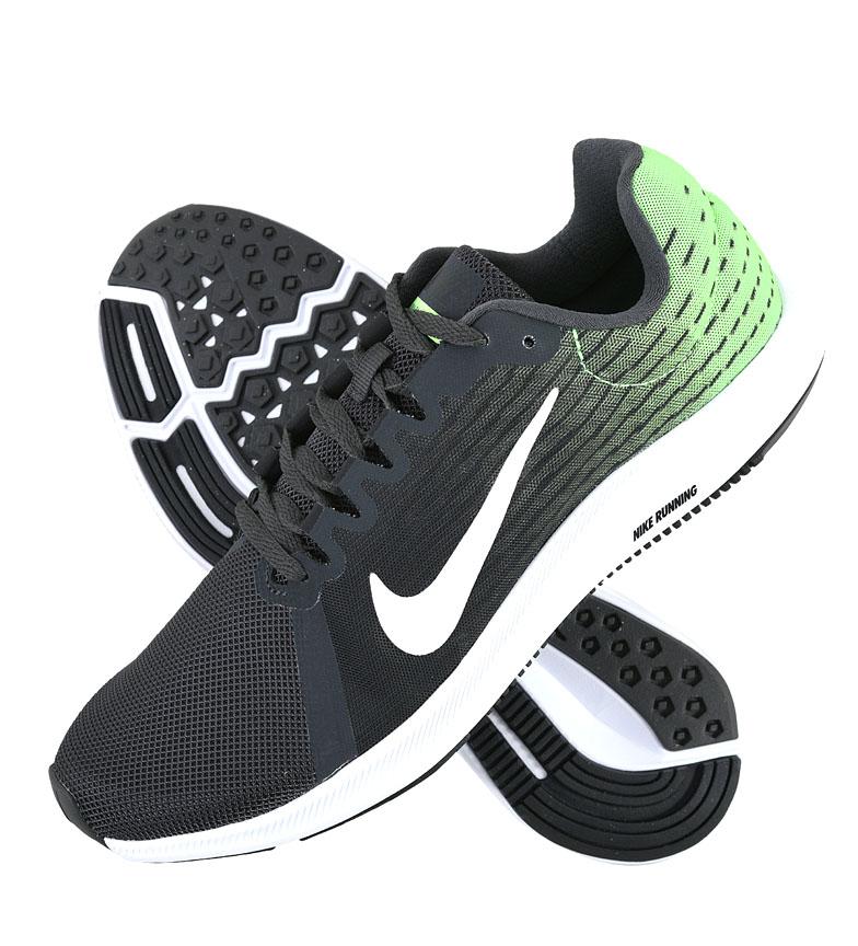 Nike-Zapatillas-running-Downshifter-8-Hombre-chico-Azul-Gris-Negro-Verde-Tela miniatura 14