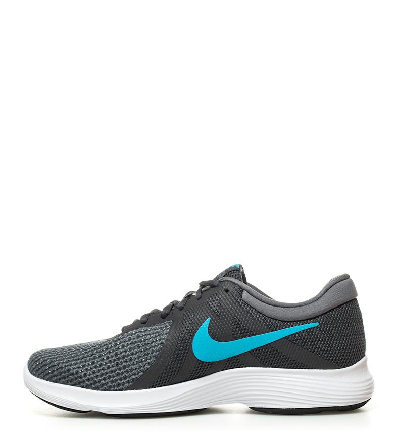 Nike-Zapatillas-running-Revolution-4-blanco-Hombre-chico-Rojo-Negro-Azul-Gris miniatura 34