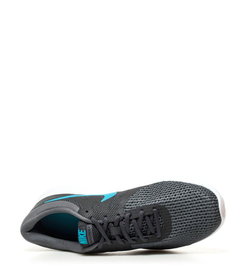 Nike-Zapatillas-running-Revolution-4-blanco-Hombre-chico-Rojo-Negro-Azul-Gris miniatura 35