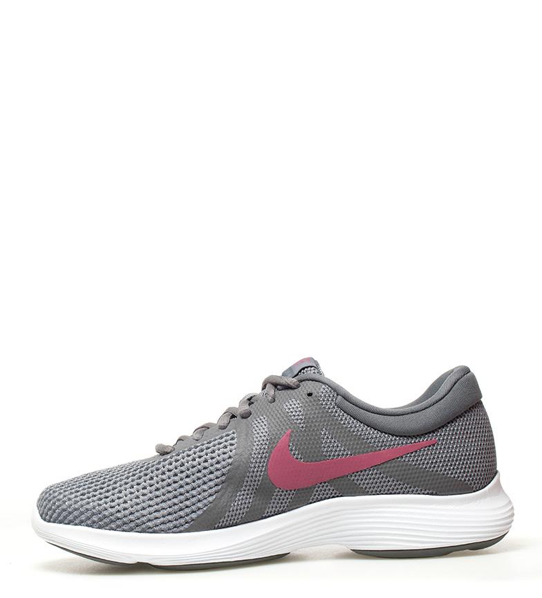 Nike-Zapatillas-running-Revolution-4-blanco-Hombre-chico-Rojo-Negro-Azul-Gris miniatura 75