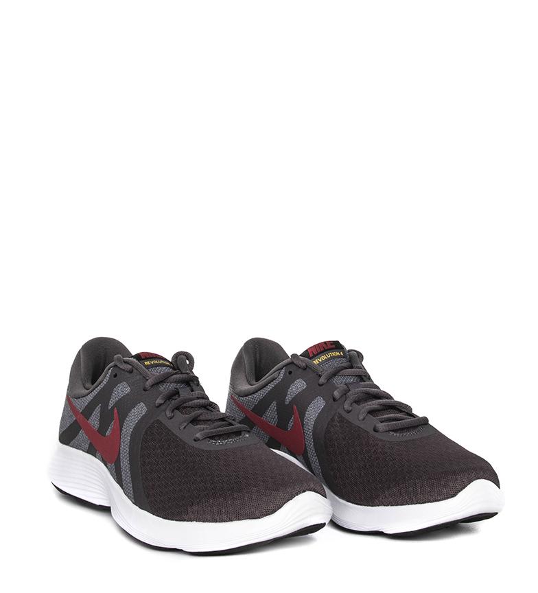Nike-Zapatillas-running-Revolution-4-Hombre-chico-Blanco-Negro-Azul-Gris-Rojo miniatura 80