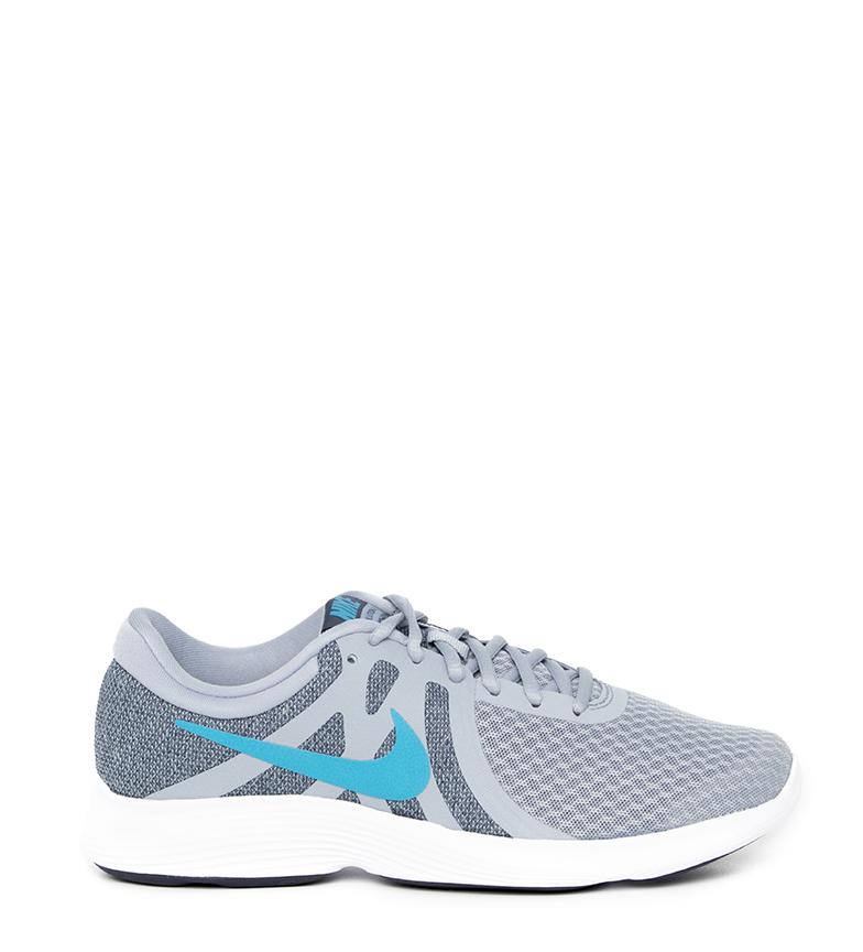 Nike-Zapatillas-running-Revolution-4-Hombre-chico-Blanco-Negro-Azul-Gris-Rojo miniatura 74