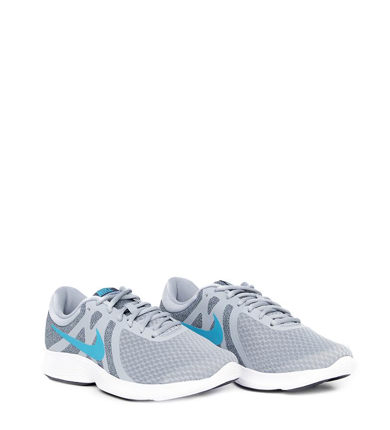 Nike-Sneakers-running-Revolution-4-Homme-Blanc-Noir-Bleu-Gris-Rouge-Tissu miniature 75