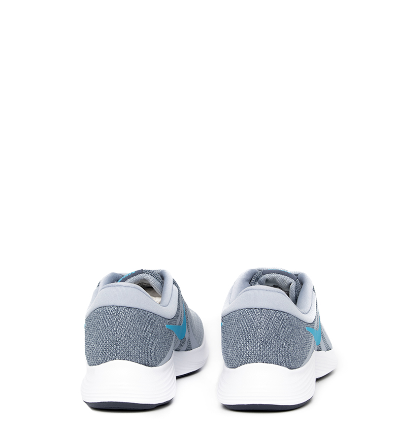 Nike-Sneakers-running-Revolution-4-Homme-Blanc-Noir-Bleu-Gris-Rouge-Tissu miniature 76