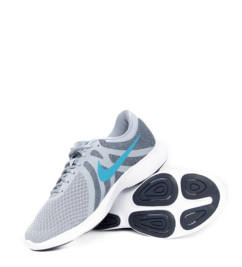 Nike-Sneakers-running-Revolution-4-Homme-Blanc-Noir-Bleu-Gris-Rouge-Tissu miniature 77