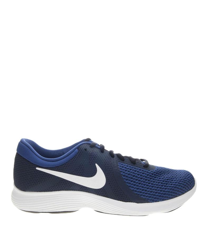 Nike-Zapatillas-running-Revolution-4-Hombre-chico-Blanco-Negro-Azul-Gris-Rojo miniatura 64
