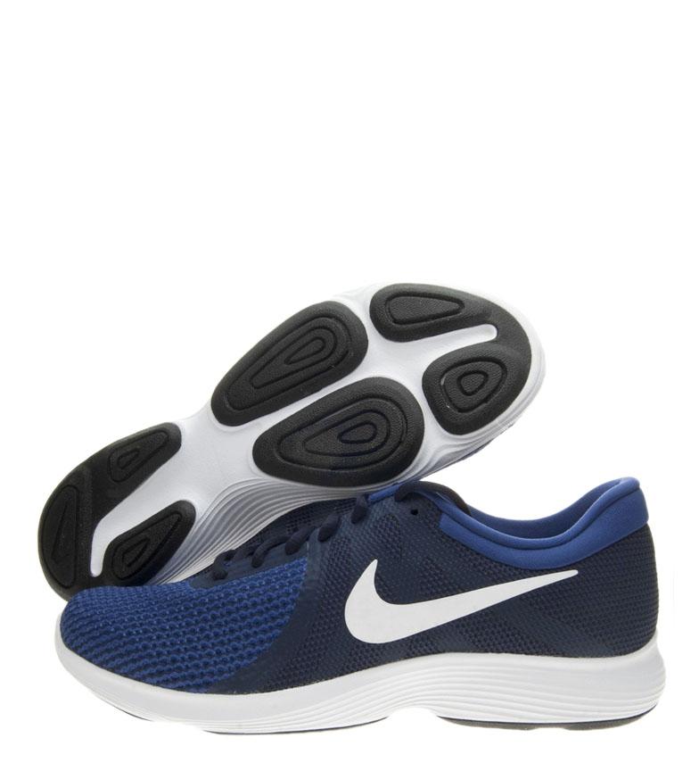 Nike-Zapatillas-running-Revolution-4-Hombre-chico-Blanco-Negro-Azul-Gris-Rojo miniatura 67
