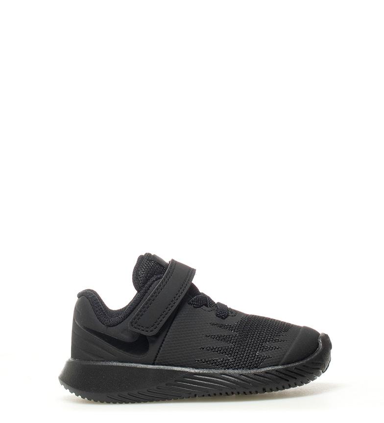Zapatillas Nike Star Runner 2 TD Velcro Negro Blanco