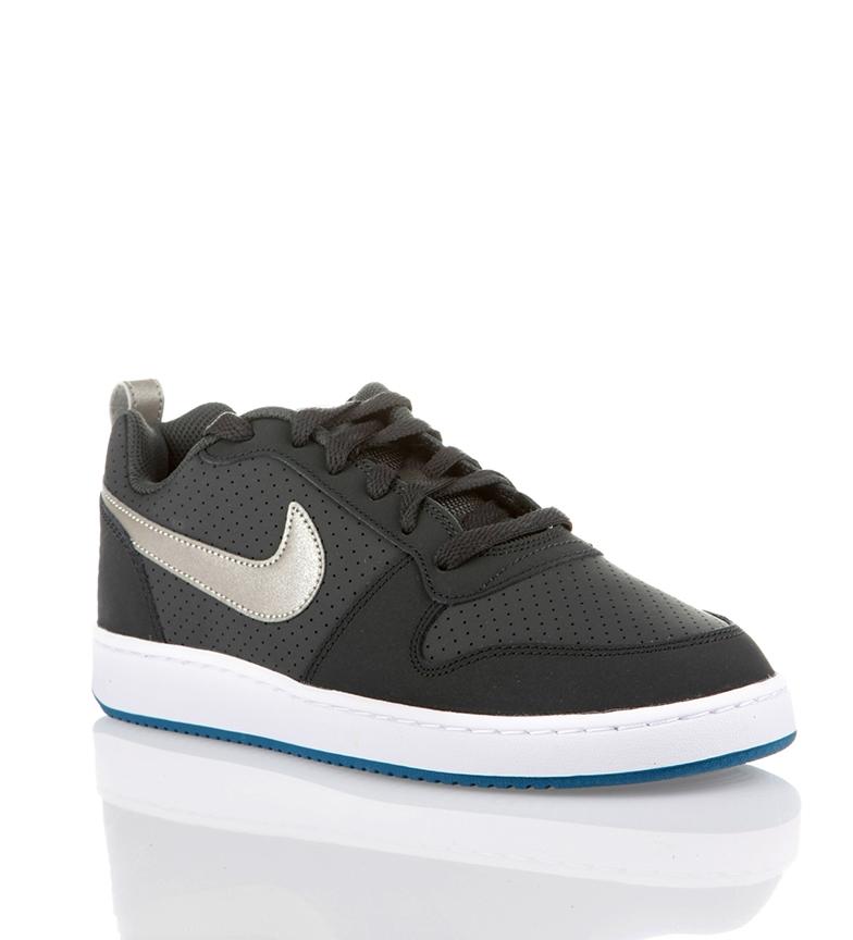 Detalles de Nike Zapatillas Court Borough Low antracita Hombrechico Negro Plano Cordones